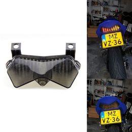 Luzes ninja zx6r on-line-Motocicleta LED Cauda Running Brake Turn Light para Kawasaki Ninja ZX6R 636 ZX6RR Z750S Z1000