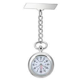 Shellhard 1 Unid Nuevo Lindo Encantador Mujeres Enfermera Reloj Vintage Pocket Quartz Watch Lady Fob Colgante de Bolsillo Pin Broche Clip Corchete desde fabricantes
