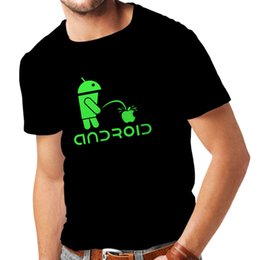 Wholesale s gadgets - Android Funny Shirt T Shirts for Men Funny Fun Gadgets Funny Apple Fun Gag Gifts New Fashion for Men Short Sleeve Top Tee Couple