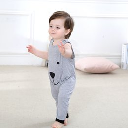 Wholesale Good Day Baby - Good Quality INS Baby Summer rompers newest infant toddlers Bear Sleeveless jumpsuit new born one-piece soft cotton jumpsuit