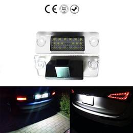 Wholesale Audi A4 B5 - 2PCS Car LED License Plate Lights 12V SMD3528 Number Plate Lamp for Audi A4 B5 S5 B5 A3 S3 Sportback A4 S4 Avant