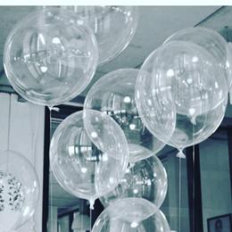 Argentina 50 unids No Winkles PVC Globos Transparentes 10/18/24 pulgadas Clear Bubble Helium Globos Fiesta de Cumpleaños de Boda Decoración Helium Balaos Kid Juguetes Bola Suministro