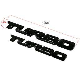 Etiqueta emblema turbo on-line-3D Car Styling Adesivo Metal TURBO Emblema Traseiro Da Bagageira Traseiro Emblema turbo adesivo Universal Car Motorcycle Auto Chrome