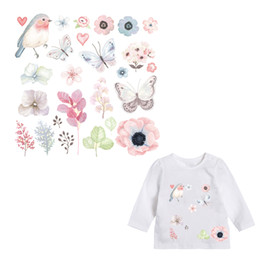 Wholesale Clothing Stickers For Kids - Patches for Kids Clothes Lovely Flower Animal Patch DIY Accessory A-level Washable Heat Transfer Iron Stickers Appliques