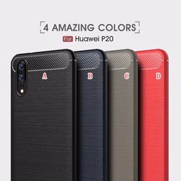 Wholesale Oppo Cases - Brush Armor TPU Soft Case For Huawei P20 Plus P20 Lite OPPO R11 Plus Xiaomi 6X Redmi NOTE5 Pro HTC U11 Life Eyes Carbon Fiber Skin Cover
