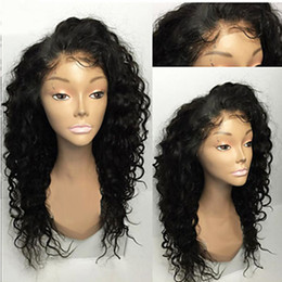 Wholesale Long Blonde Wigs For Cheap - Wholesale Cheap 1b# 6# Black Brown Loose Curly Long Wigs with Baby Hair Heat Resistant Glueless Synthetic Lace Front Wigs for Black Women
