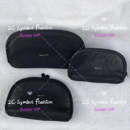 Juego de 3 bolsas (precio por 3 bolsas) Moda mujer Organizador de estética de malla transparente Bolsas de maquillaje marca diseñador de lujo regalo del contador del bolso desde fabricantes