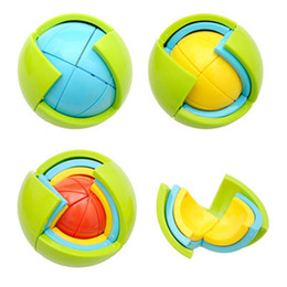 Wholesale 3d blocks - Puzzle Ball 3D Intelligence Development Toys Creative Assemble Building Block Balls For Baby Kids Brain Train High Quality 9 5dx W