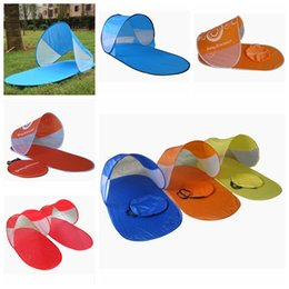 Wholesale door canopies - Automatic Camping Sun Shade Tent Outdoor Beach Travel Pop Up Shelters Canopy Summer Tent 4 Colors AAA378