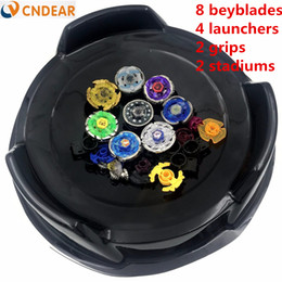 Wholesale beyblade fury - Beyblade arena stadium Metal Fusion 4D Freies System Battle Metal Top Fury Masters launcher and grip children toy