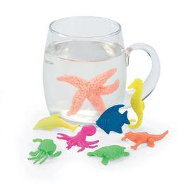 Wholesale Novelty Tricks - 12pcs set Novelty Gadget Multicolor Amazing Capsule Creatures Set Fake Animal Toy Trick Joke Tool