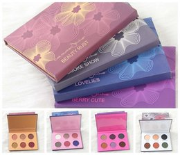 Wholesale Colours Beauty - NEW Direct DHL Free Shipping new makeup mix Coloured lovelies  Beauty Rust Smoke Show Lovelies 6 color eyeshadow palette free ship