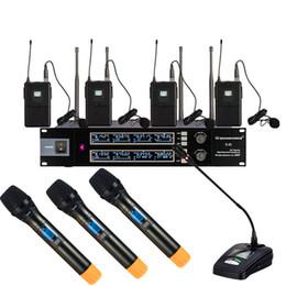 konferenzen mikrofon Rabatt 748-830MHz spätestes Bühnenshowleistung KTV, das UHF drahtloses Mikrofonsystem mit Handkonferenz und Körper verpacktem Mikrofon singt