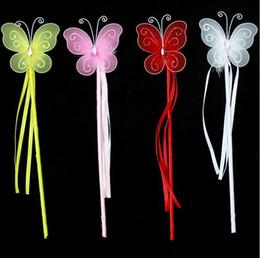 Nuovi colori principessa farfalla fata bacchetta magica bastoni festa di compleanno favore ragazza regalo 4 colori bianco rosa rosso giallo da bastone di farfalla rosa fornitori