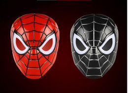 Wholesale children costume spiderman wholesale - Spiderman mask LED Masks Children Animation Cartoon Spiderman Light Mask Masquerade Full Face Masks Halloween Costumes Party Gift