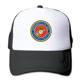 Men Women United States Marine Corps-USMC Printed Baseball Caps Summer Cool  Snapback Caps Hat Mesh Hat Adjustable inexpensive united states hats 2fb0c5343e3