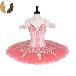 Traje de cascanueces online-FLTOTURE AT1298 Classical Ballet Tutu Girls Pink Tutu con encaje Ballet Cascanueces falda para la venta Disfraces para niños