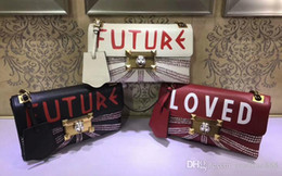 Wholesale Future Covers - AAAAA Women 477330 27cm Shoulder Bag,Future and Loved,ID Holder,Crystals Trim,with Box Dust Bag