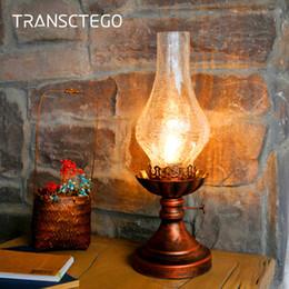 Lampe de bureau rétro kérosène lumière lampe de table Vintage industrielle chevet nuit lumière pour salon chambre lanterne décorative ? partir de fabricateur