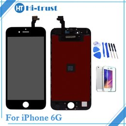 Wholesale Lcd Digitizer Assembly - 1 Pcs Grade AAA+++ iPhone 6 6G LCD Display Touch Digitizer Screen With Frame Assembly Replacement With Tools Free Shipping