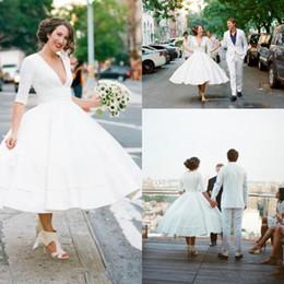 Rabatt Weinlese Boho Hochzeitskleid Teelange 2018 Weinlese Boho