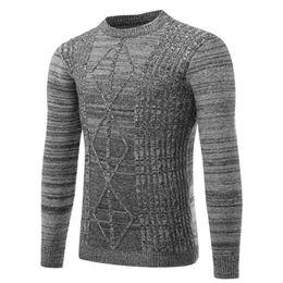 Wholesale korean men winter wear - Casual wear brand men's sweater 2018 autumn winter new Korean version men's personality pattern long sleeved sweater