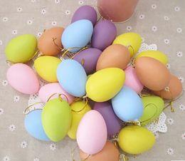 huevos de pascua de plastico Rebajas 6.5 * 4.8 cm Decoración colorida de los huevos de Pascua DIY para los niños Huevo de Pascua plástico transparente del huevo de Pascua del regalo