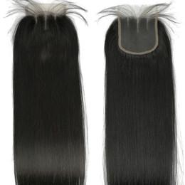 2019 средние перуанские прямые волосы Шелковистые прямые человеческие волосы закрытия шнурка бразильский малайзийский перуанский Виргинский волос кружева закрытия 4x4 закрытие природных волосяного покрова с волосами младенца скидка средние перуанские прямые волосы
