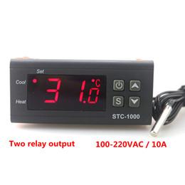 Светодиодный терморегулятор онлайн-STC-1000 Digital Temperature Controller Two Relay Output LED Thermostat Incubator 110V 220V 10A with Heater and Cooler