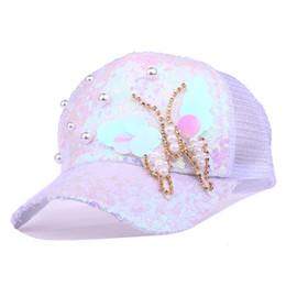 eee554328f678 Myelo Yeni Moda Kadınlar Kelebekler Nakış Örgü Beyzbol Şapka Yama Peals  Dantel Pamuk Yaz Nefes Beyzbol Kapaklar Spor