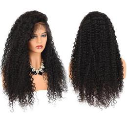 Perruques d'apparence kinky en Ligne-ZhiFan Afro Kinky Bouclés Lace Front Perruques Naturel Regarder Perruques de Cheveux Pour Les Femmes Noires Perruques Synthétiques