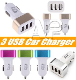 Wholesale Apple Socket - Dual Port Car USB Charger Adapter For Iphone X 8 Plus Samsung Galaxy Note8 USB Universal Socket 3 Port Car-charger 5V