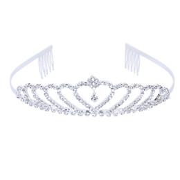 2019 pin corona tiara Corona Tiara Princess Strass elegante con perno per matrimonio Spedizione gratuita pin corona tiara economici
