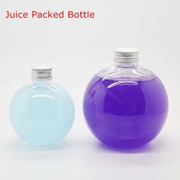 Wholesale beverage bottles wholesale - Plastic Transparent Spherical Bottle Juice enzyme tea drink beverage bottles150ml 200ml 300ml 500ml most tide free shipping 10PCS