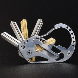 Clip degli amanti online-Clip da cabina esterna multifunzionale moschettone a sospensione in acciaio inossidabile Clip di memorizzazione chiave EDC Gadget Supporto portatile FBA Drop Shipping G862F