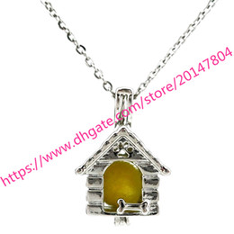 Wholesale House Dog Kennels - K645 Pet Dog Puppy Home House Kennel Pearl Cage - Beads Cage - Locket Pendant