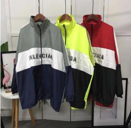 Wholesale color outerwear - Brand designer Top Casual Striped Jacket hoodies Windbreaker hip hop ma1 hoodies sweater Outerwear Sweatshir woman  Men's Jackets  balenciaga