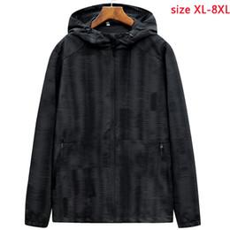Gioventù nera con cappuccio online-Nuovo arrivo primavera autunno nero giacca con cappuccio da uomo gioventù moda spessa casual super grande cappotto mens plus size XL-4XL5XL6XL7XL8XL