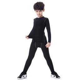 Wholesale Men Yoga Spandex - Boys Kid Nylon Quick-Drying Long Sleeve Fitness Gym Running Yoga T-Shirt