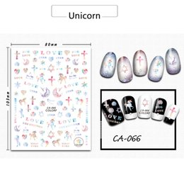 Wholesale Duck Stickers - Art Stickers Decals 1 Sheets Unicorn Cute Animal Sticker DIY Lovely Duck Adhesive Nail Art Decorations 3D Adhesive Tips Nail