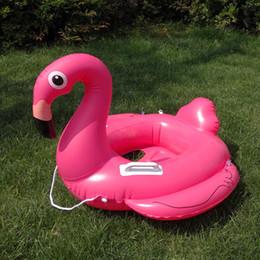 2019 rosa bambino galleggiante Baby gonfiabile Flamingo Piscina Galleggiante Pink Ride-On Anello Nuoto Sedili per bambini Galleggianti Acqua Festa Giocattoli per bambini Piscina rosa bambino galleggiante economici