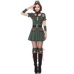 Mujeres Soldado lindo Uniforme de Halloween Partido Soldado Sexy Girl Soldado Oficial de ejército traje desde fabricantes