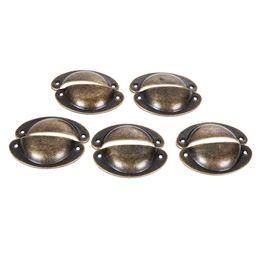 Canada 10pcs boutons de tiroir vintage poignées porte meubles armoire tirer le bouton de l'armoire laiton antique coquille cuisine tiroir matériel outils Offre