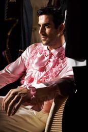 homens vestindo camisas de cetim Desconto Custom Made Qualquer Cores Elásticas De Seda como Cetim Homens Do Noivo Do Casamento Camisas Desgaste Noivo Camisa Slik Para Homens CS6