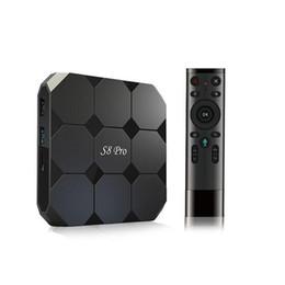 Оригинальный телевизионный блок онлайн-Оригинал S8 PRO Google Voice Control Android 7.1 TV Box 2018 Новые поступления S905W Smart TV потокового Box система