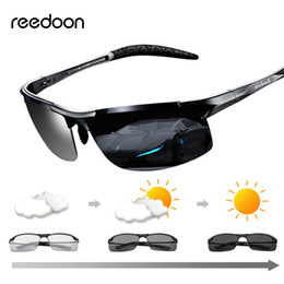 Occhiali da sole fotocromatici Reedoon Lenti polarizzate UV400 Occhiali da guida con telaio in magnesio di alluminio per uomini di alta qualità da