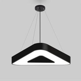 Precios de iluminación de oficina online-Triángulo led lámparas colgantes decoración luces colgantes Moderno decorativo para la oficina casa centro comercial tienda de compras precio al por mayor