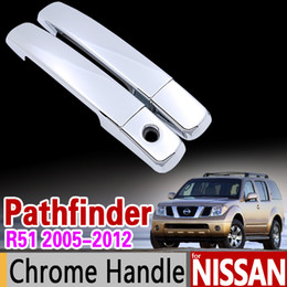 Wholesale car pathfinder - wholesale for Nissan Pathfinder R51 2005 - 2012 Chrome Handle Cover Trim Set 2006 2007 2008 2009 2010 2011 Accessories Sticker Car Styling