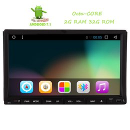 Wholesale Double Din Car Stereo Android - Reverse Camera+2 din Double din Android 7.1 Car DVD Player GPS Navigator Autoradio Octa-core Car Radio Stereo in Dash Touchscreen Headunit