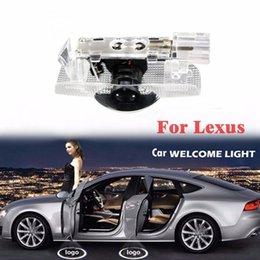 lexus levou luzes Desconto 2 Pcs Luz Sombra Bem-vindo Lâmpada Logotipo Projetor Laser Car LED Porta Luz de Advertência Para LEXUS LS LX ES
